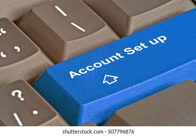 Keyboard with hot key for account set up