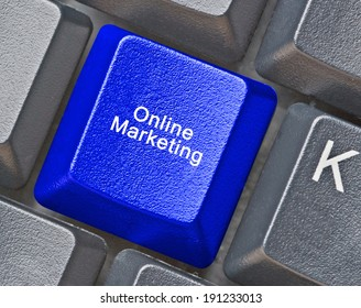 Keyboard with hot key for online marketing