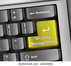 Keyboard Illustration with Security Management wording
