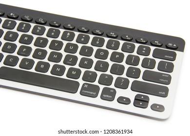 Keyboard isolated on the white background