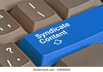 Keyboard with key for content syndication