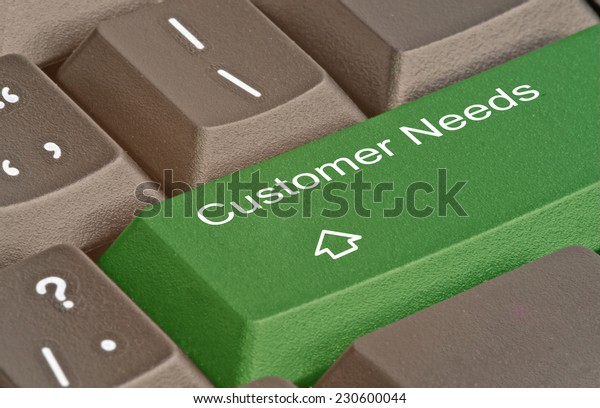 Keyboard with key for customer needs