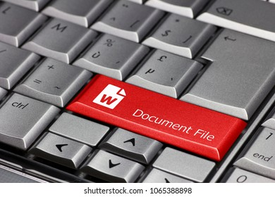 Keyboard key - document file