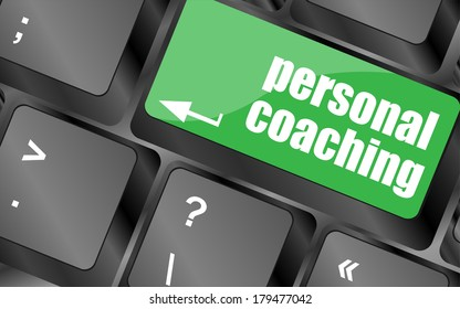 Keyboard key with enter button personal coaching