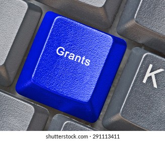 keyboard with key for grants