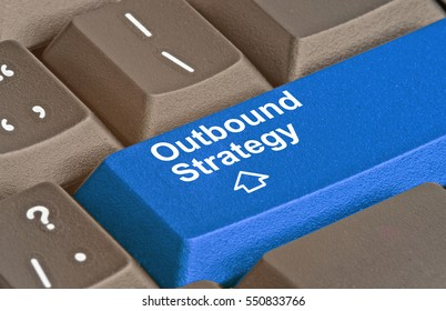 Keyboard with key for outbound strategy