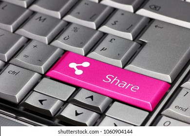 keyboard key pink - share