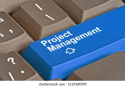 keyboard with key for project management