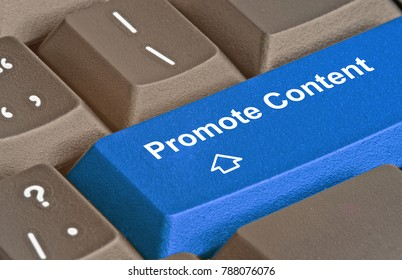 keyboard with key to promote content