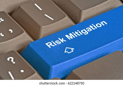 Keyboard with key for risk mitigation