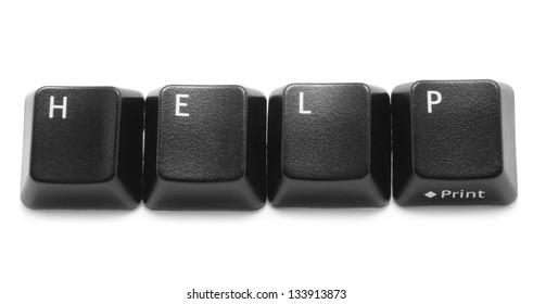 Keyboard keys isolated on a white background