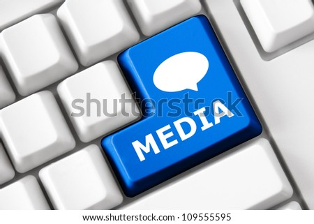 Keyboard Media Text Bubble Symbol Stock Photo (Edit Now) 109555595