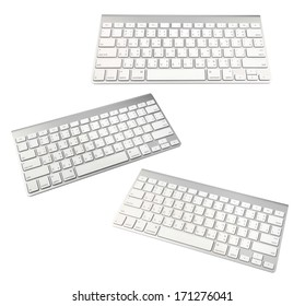 keyboard of a modern laptop isolated on a white