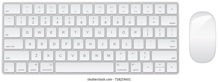 Keyboard and mouse technical rendering