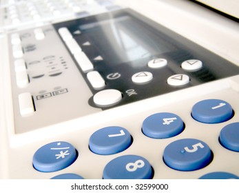 keyboard of the office printer