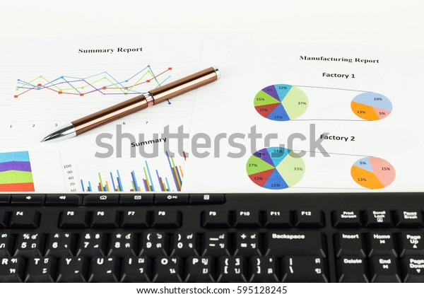 Keyboard and pen calculations, savings, finances and economy concept.