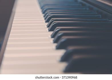 keyboard piano vintage filter effect.