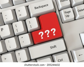 Keyboard with a Question mark