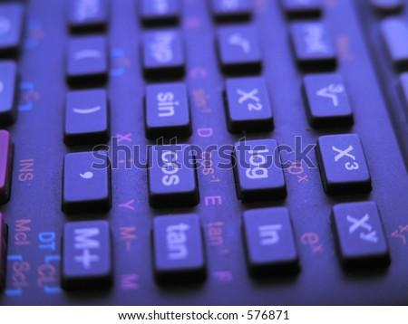 Keyboard Scientific Calculator Mathematical Symbols Stock Photo