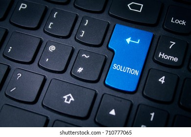 Keyboard with solution button.