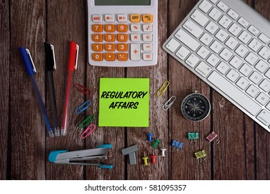 Keyboard, Stationery With Notes REGULATORY AFFAIRS Conceptual