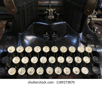 keyboard of vintage typewriter