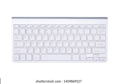 Keyboard wireless isolated on white background, with selection path.