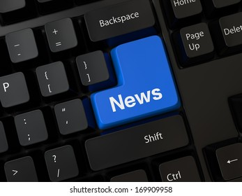 Keyboard with a word news