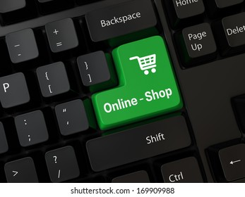 Keyboard with a word online-shop