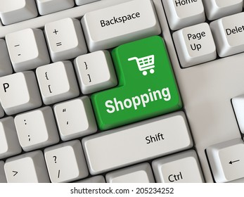 Keyboard with a word shopping