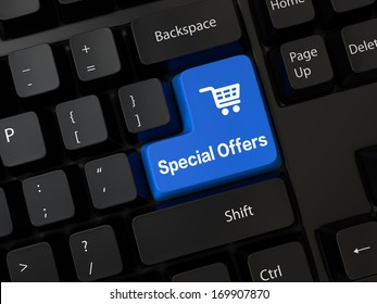 Keyboard with a word Special Offers