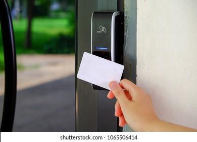 Keycard contact Digital door lock