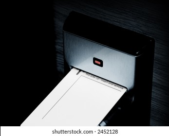 Keycard and electronic lock, isolated on black