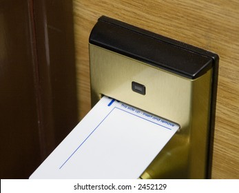 A keycard and electronic lock, original version