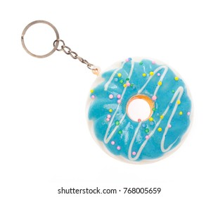 keychain Donut isolated on white background.