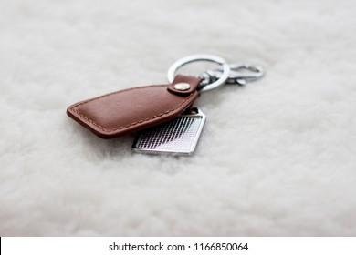 keychain made of leather
