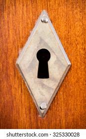 Keyhole of a lock rhombus shaped