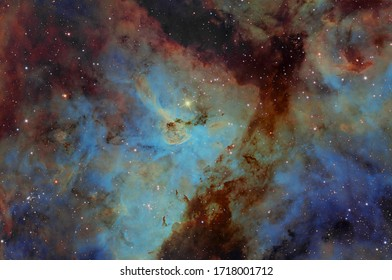 The Keyhole Nebula using Hubble Space Pallet Filters