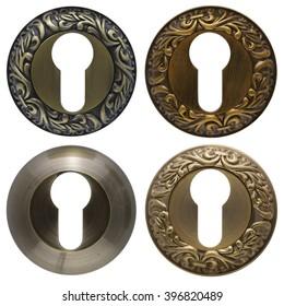 keyholes isolated on white background