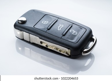 Keyless remote for car or vehicle on white isolated background