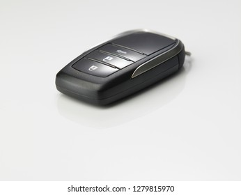 Keyless remote for car or vehicle on white isolated background - Image