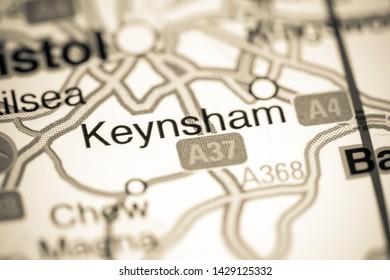 Keynsham. United Kingdom on a map