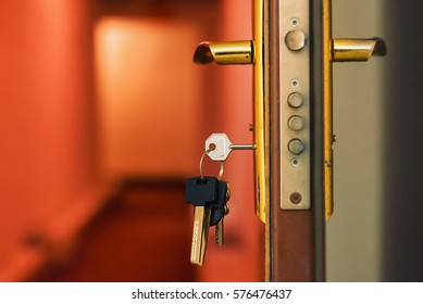The keys in the keyhole