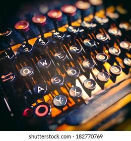 Keys of an old typewriter.