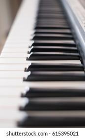 keys on an electronic piano