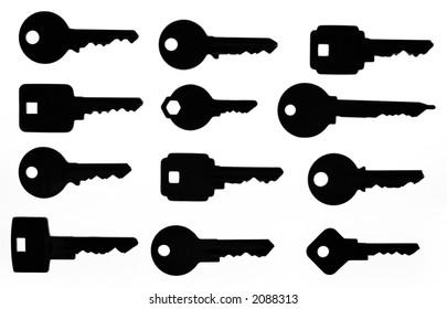 Keys on lightbox