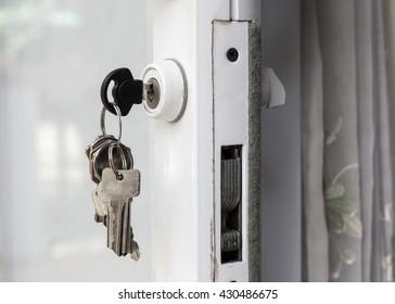 keys on sliding door