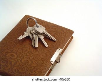 keys and an retro diary