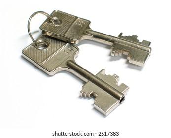 keys of a safe deposit box
