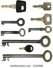 keys set, old and new, isolated